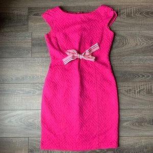 3/$30 Just Taylor Bright Pink Dress w Bow | 4